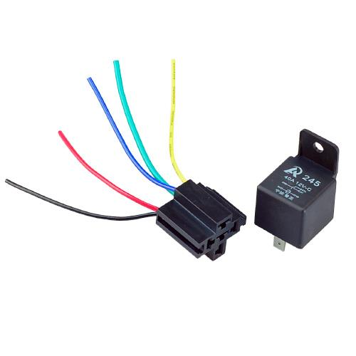 2019 Car Truck Auto Relay 12V 40A SPST Premium Relay 5 Pin Prong +  Pin Relay Socket Wiring on