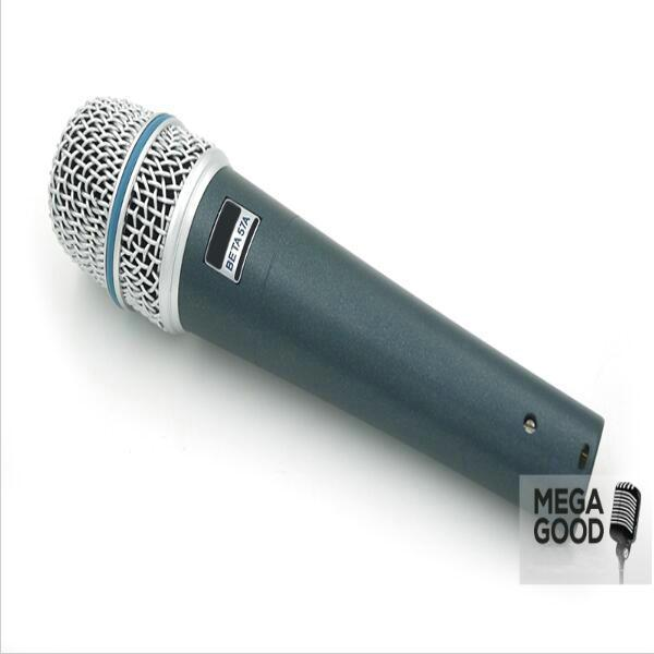 microfono Wholesale 5pcs/lots BETA57 Professional BETA57A Super Cardioid Handheld Dynamic Wired Microphone Beta 57A 57 A Mic free mikrafon