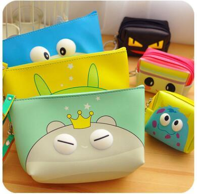 Colors Many Designs Cartoon wholesale Travel Makeup quartet cosmetic Bag