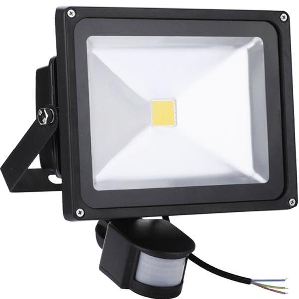 Exterior Seguridad LED Floodlight 50W con PIR Día Night Motion Sensor Eléctrica industrial