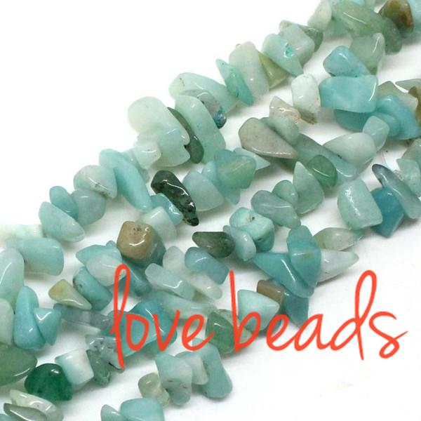 5mm-8mm Irregular Chips Beads Natural Amazonite Gravel Stone Loose Beads Strand 80cm wholesale (F00350) wholesale