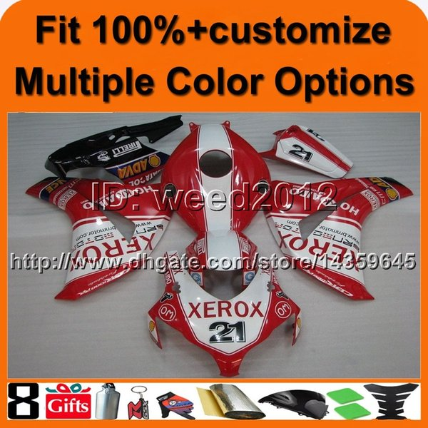 23colors+8Gifts Injection mold red motorcycle cowl for HONDA CBR1000RR 2008-2011 CBR 1000RR 08 11 aftermarket ABS Plastic Fairing