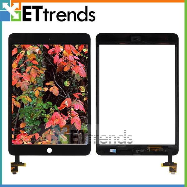 For iPad Mini 1/Mini 2 Touch Screen Digitizer Assembly with IC and Home Button Installed Black White Low Price AA0082