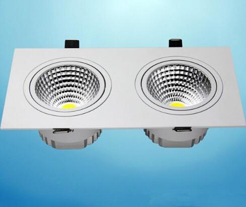 Toptan fiyat 14 w Dim Çift LED Gömme Tavan Aşağı ışık Kabine Lamba yatak odası aydınlatma Için Sıcak Soğuk Beyaz