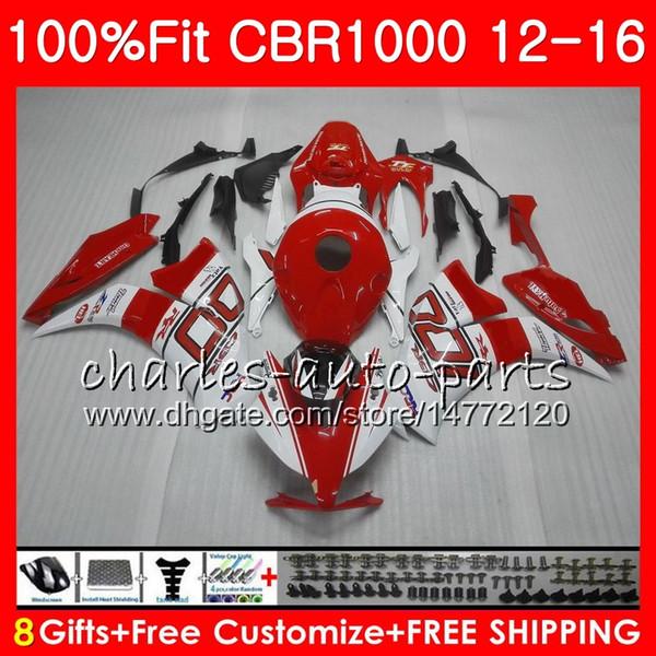 Injection Body For HONDA CBR 1000 RR HOT Red white CBR1000RR 12 13 14 15 16 88NO4 CBR 1000RR CBR1000 RR 2012 2013 2014 2015 2016 Fairing kit