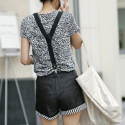 Wholesale- 2016 Mens Womens Unisex Clip-on Suspenders Elastic Y-Shape Adjustable Braces 8MF8