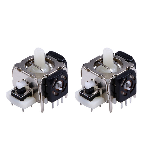 Wholesale- 2Pcs 3D Analog Joystick Game Controller Gampad Joypad Part Component Repair Analogs Replacement for Xbox 360 Wireless Controller