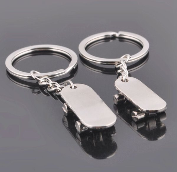 Creative gifts personality scooter couples metal keychains skates auto advertising key ring chain pendant