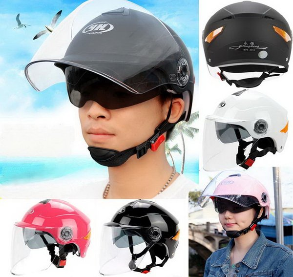 2016 new SUMMER sunscreen YOHE dual lens Half Face motorcycle helmet ABS motorbike electric bicycle helmets Reflective safety at nigh YH357A