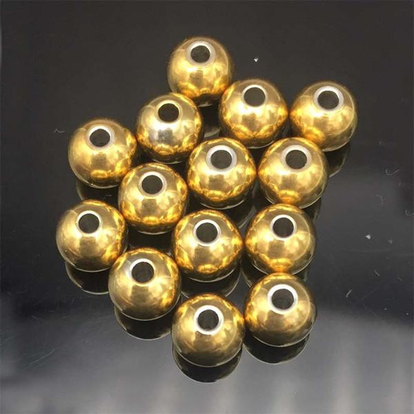 Mode 100 Stücke Edelstahl Perlen 4mm / 6mm / 8mm Solide Perlen für Schmuck Machen Ball Silber ton DIY Halskette Schmuck erkenntnisse