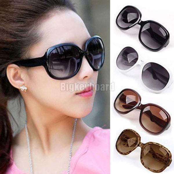 Wholesale-Fashion Hot Womens Ladies Summer Black Oversized Sunglasses Free Shipping