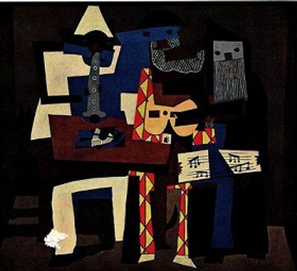 Три музыканта Пикассо,чистая ручная роспись сказочные кубизм цвет искусства масляной живописи на высокое качество холст домашнего декора размер можно настроить