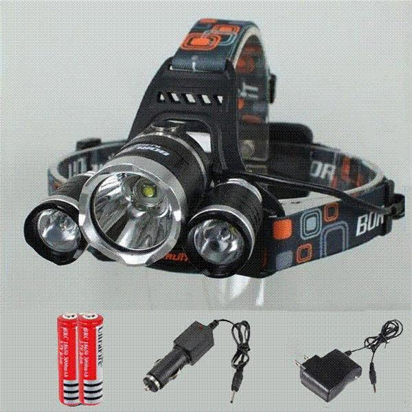 Boruit 5000LM Waterproof Headlamp CREE XML T6 4 Modes LED Headlight Rechargeable Head light Spotlight For Hunting Camping 18650