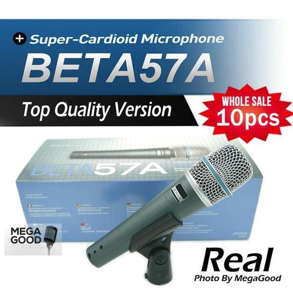 microfono 10pcs Top Quality Version BETA57 Professional BETA57A Karaoke Handheld Dynamic Wired Microphone Beta 57A 57 A Mic free mikrafon