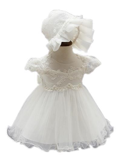 60e2d7743fcb9 Acheter Baby Wow Ivoire Bébé Nouveau Né Filles Robes + Chapeau Pour ...