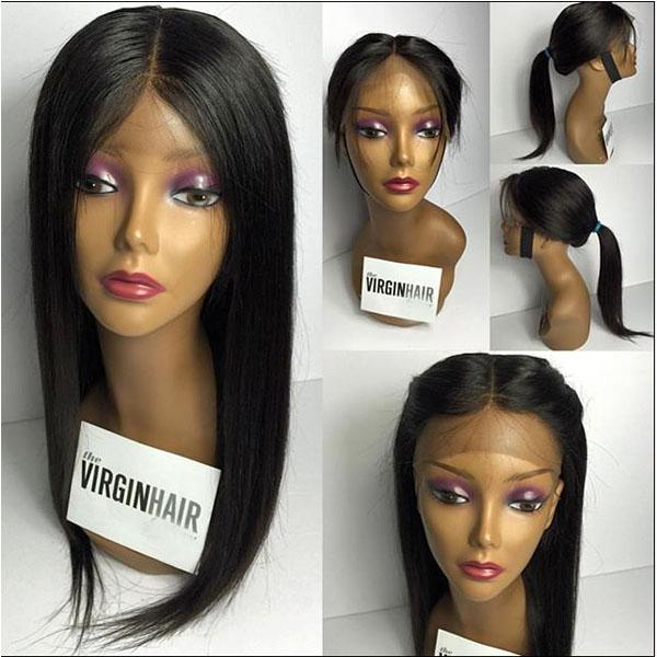 Unprocessed Silky Straight Lace Frontal Wig Full Lace Human Hair Wigs For Black Women 8A Brazilian Hair African American Wigs With Baby Hair