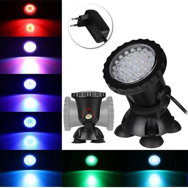 36 LED Renk Değişen Işık Sualtı Nokta Sel Işık Dalgıç Lamba Su Akvaryum Çeşmesi Gölet Balık Tankı Için