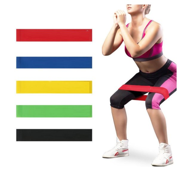 best selling Exercise Bands 600X50X1.00mm Latex Resistance Bands Elastic Strength Training Gym Fitness Physical Therapy Bodybuilding Yoga out244
