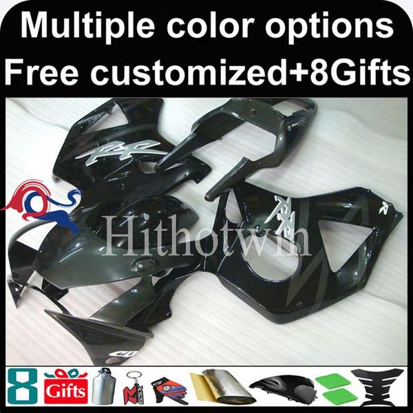 23colors + 8Gifts schwarze Motorradverkleidung für HONDA CBR954RR 2002-2003 CBR954 RR 02 03 ABS Plastikverkleidung