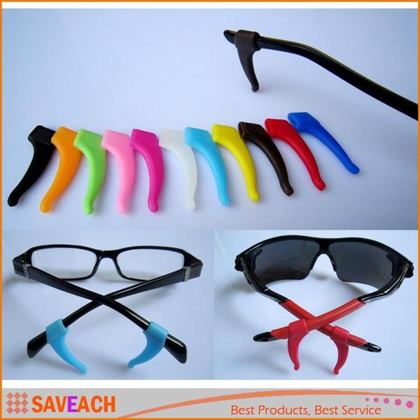 1 Par de Silicone Macio Anti-slip Titular Gancho Ganchos Titular Ponta Para Esportes Óculos Óculos de Sol Espetáculo Óculos Acessórios