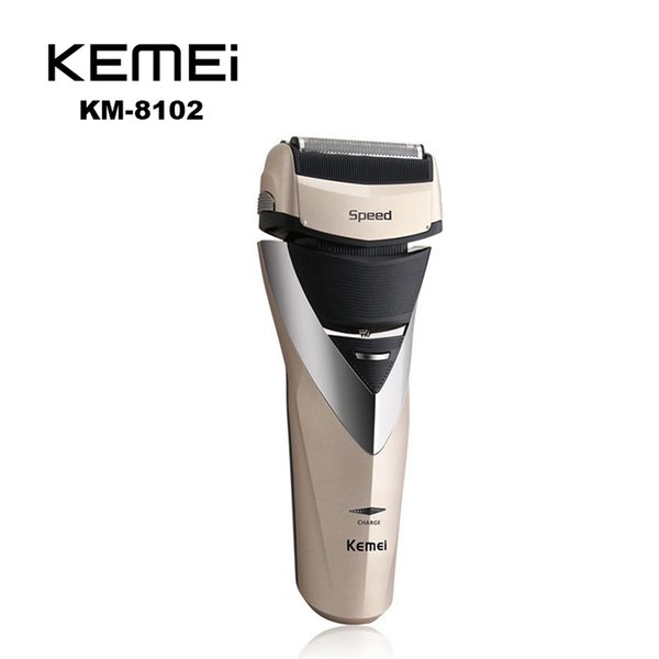 Kemei KE-8102 Cordless Electric Shaver Razor Trimmer Rechargeable Reciprocating Double Groomer EU Plug Black Gold KEMEI HAIR Shaver 0604065