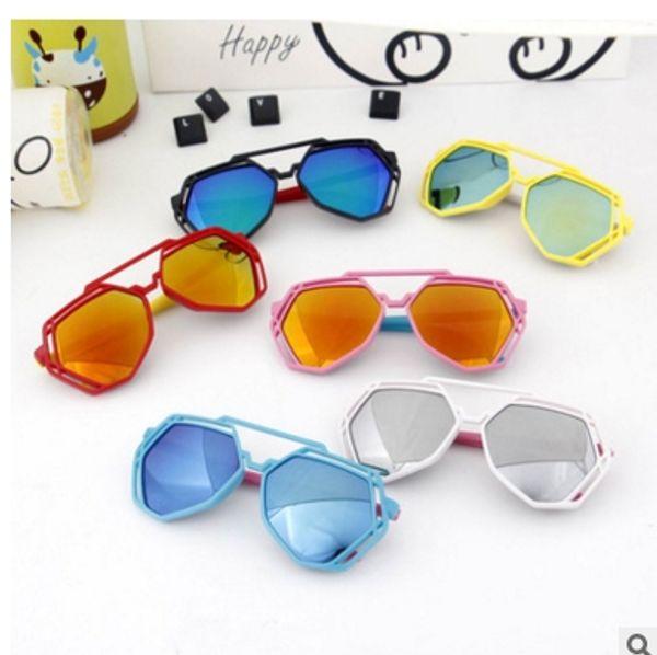 Kinder Sonnenbrille Trendy Kinder Sonnenbrille Diamantförmige Multilaterale Anti-UV Mädchen Gläser Shades Baby Gafas De Sol