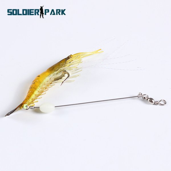 10CM Soft Lure Plastic Bait 6g Fishing Shrimp Bait Sea Soft Bionic Bass Tackle Grass Fake Shrimp Lure with Hook Noctilucent order<$18no trac