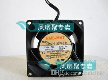 Original NMB-MAT 3115PS-23W-B30 8cm80 * 80 * 38 230V 2 Draht Aluminiumrahmen AC Lüfter