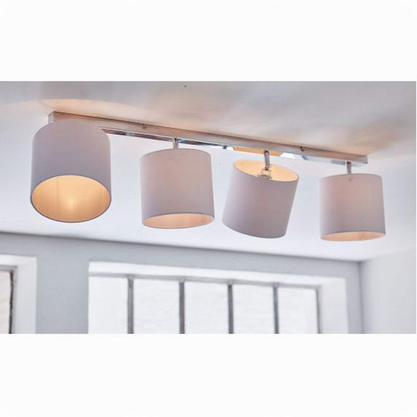New design Modern white shade lustre LED Ceiling Lights lamp Fixtures adjustable head For Bedroom/Living Room halogen lamp