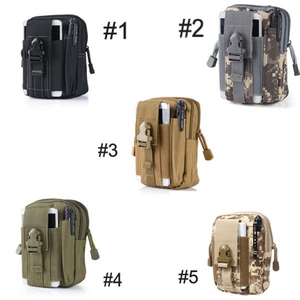 Universal EDC Pouch Utility 5 Colors Camo Bag Military Nylon Tactical Waist Pack Joging Bag Travel Equipment Gift For Men E595E