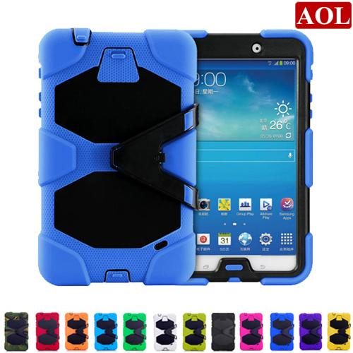 """Tablet pc case for samsung GALAXY Tab 4 8"""" T330 7.0 T230 Tab3 P3200 10.1"""" P5200 silicone waterproof dustproof resistance shell"""