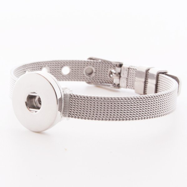 Fashion NOOSA Stainless Steel Bracelets Fit DIY 18MM Interchangable Snap Buttons To Quality Bangle Nice Jewelry Gift for Women