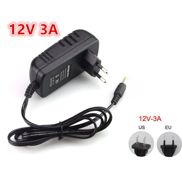 US EU AU UK Stecker Netzteil Adapter AC 110-240V auf DC 12V 3A Für LED Streifen Licht Konverter Adapter Schalt Ladegerät