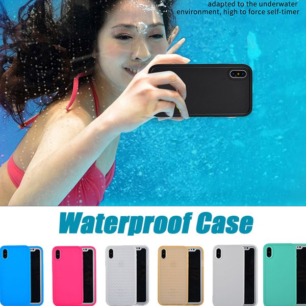 Waterproof Case Water Resistant 100% Sealed Diving Full Body Soft TPU Cover For iPhone XS Max XR X 8 Plus 7 6 6S 5 5S Samsung Galaxy S9 S7