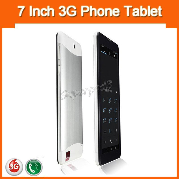 7 Inch 3G Phablet HD 1024x600 GSM WCDMA MTK6572 Dual Core Dual SIM Dual Cameras GPS Android 4.2 Phone Calling Tablets DHL