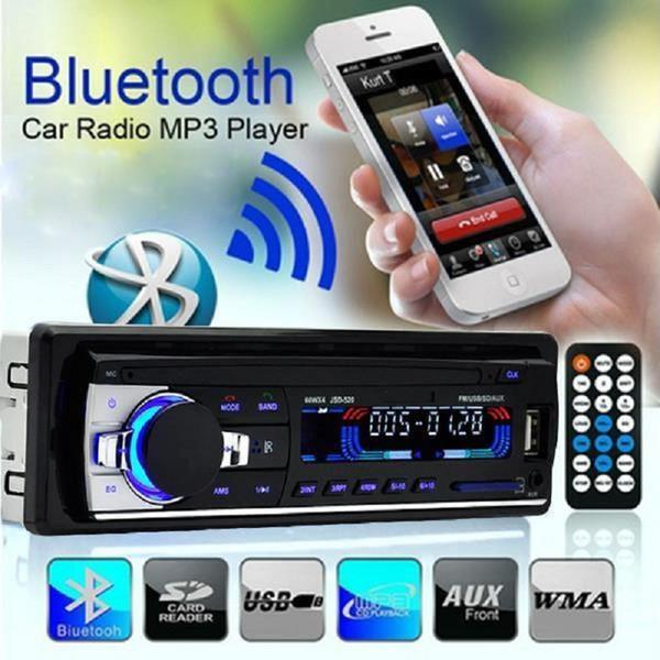 Al por mayor- En el tablero del coche Reproductor estéreo automático Radio USB / SD / AUX / FM Bluetooth Unidad manos libres