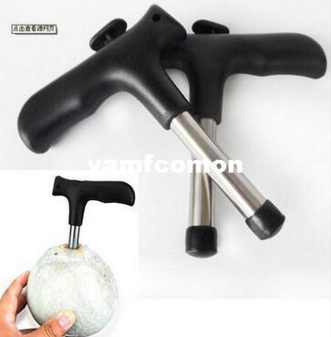 Young Coconut Opener Tap Driller Coco knife Thai Drill Hole Cut Knife Tool Cleaning Stick Fruit & Vegetable Tools for Coco Water