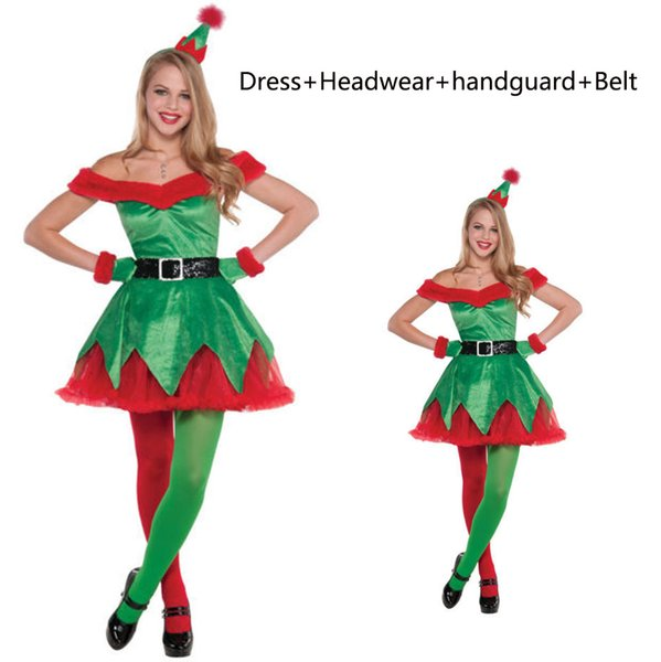 Christmas Elf Costume.Ladies Christmas Elf Costume Miss Santa Helper Xmas Fancy Dress Party Outfit Halloween Theme Pet Costumes From Ellybetterbuy 25 39 Dhgate Com