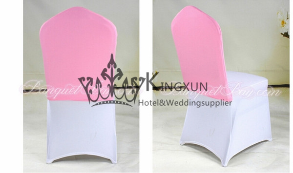Pink Color Spandex Chair Cap Fit On Wedding Chair Cover