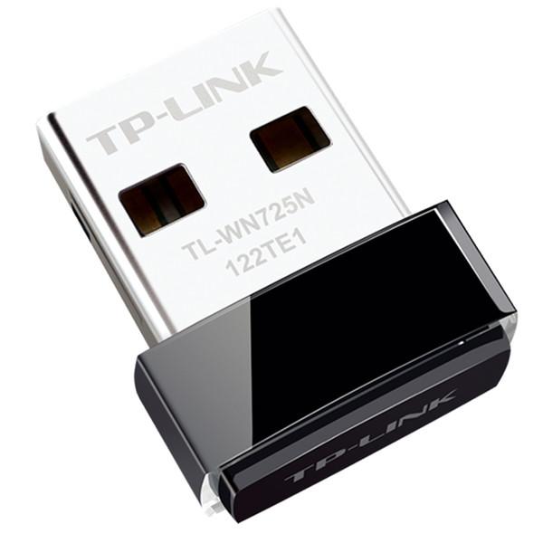 Vente en gros- TP-LINK TL-WN725N WI FI sans fil LAN carte réseau Wifi adaptateur pour réseau informatique USB Wi-fi antenne TP-LINK 150M
