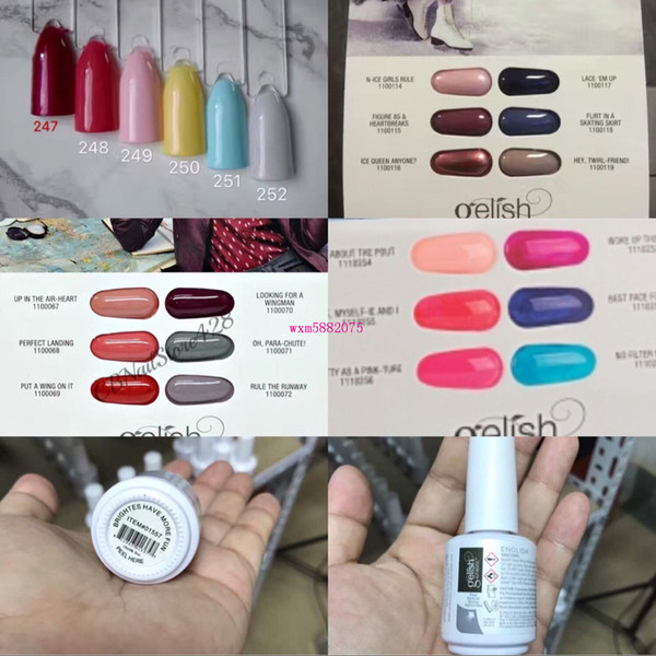 2017 High Quality 312 New Colors Harmony Gelish Nail Polish Strucure Gel Gelpolish Clear Nail Gel Led Uv Gel Polish Top It Off Foundation Nail Gel