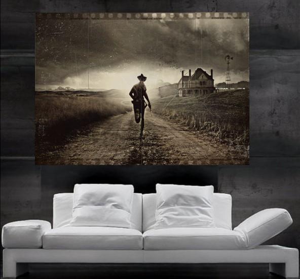 The Walking Dead Sheriffs Deputy Rick Grimes Shane Walsh Runn Poster Print Wall Art 8 Parts Poster Print Art Huge Photo No39 Angelina Jolie