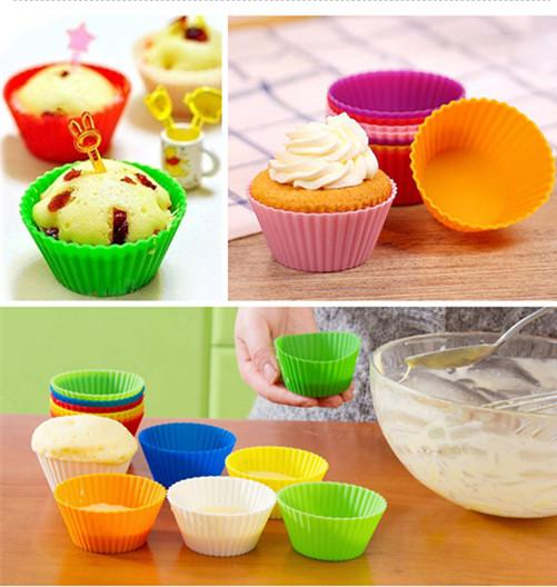 best selling Hot sale high quality cupcake silicone cake Cup molds cake muffin cases silicone chocolate molds holder baking tools