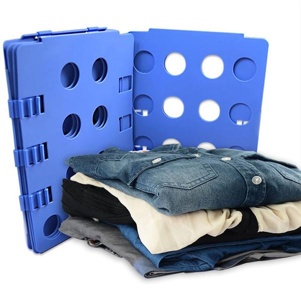 Magic Flip Fold Clothes Folder Shirt Pants Towel Laundry Organizer Folding Board Magic Convenient Multi-colored Clothes Folder Flip Fold