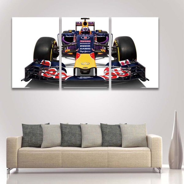3 Panel Canvas Art Prints Formula Race Car Painting Modular Picture for Home Decor Room Decoration Living Room Large Poster
