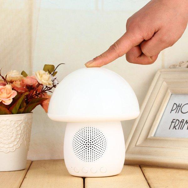 2017 Nueva T6 lámpara de Control Táctil Bluetooth altavoz LED lámpara de mesa de setas luz con FM Radio altavoz TF ranura de tarjeta + manos libres