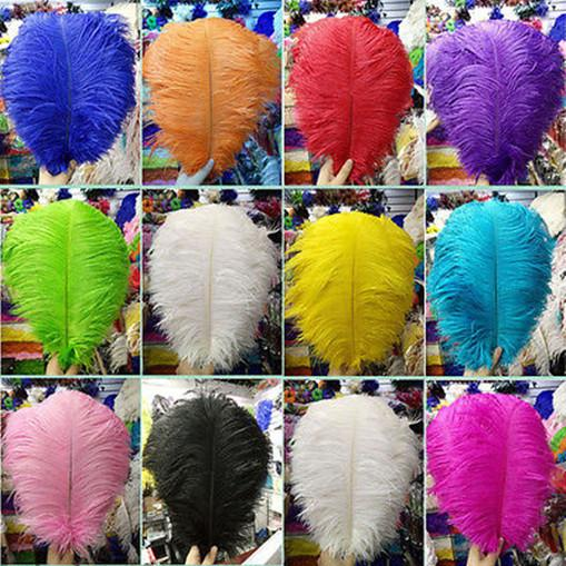 top popular Wholesale a lot 10-12inch   25-30cm beautiful ostrich feathers for Wedding centerpiece Table centerpieces Party Decoraction supply FEA-009 2019