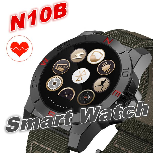 top popular N10B Smart Watch Outdoor Sport Smartwatch with Heart Rate Monitor and Compass Waterproof Bluetooth Wach for IOS Android 2019