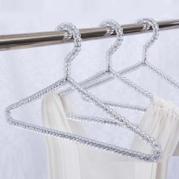 Fashion Acrylic Beads Hanger Women Clothing Skirts Dress Display Lady Clothes Crystal Hangers Free Shipping ZA4235
