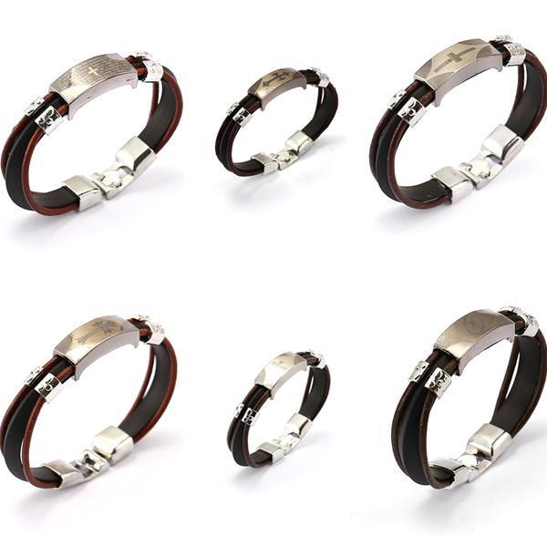 Braccialetto d'acciaio d'avanguardia di titanio d'avanguardia unisex Braccialetto trasversale d'argento del braccialetto del braccialetto dei braccialetti di modo del braccialetto degli uomini